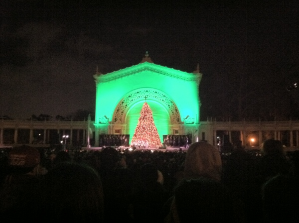 The Organ Pavilion during December Nights at Balboa Park