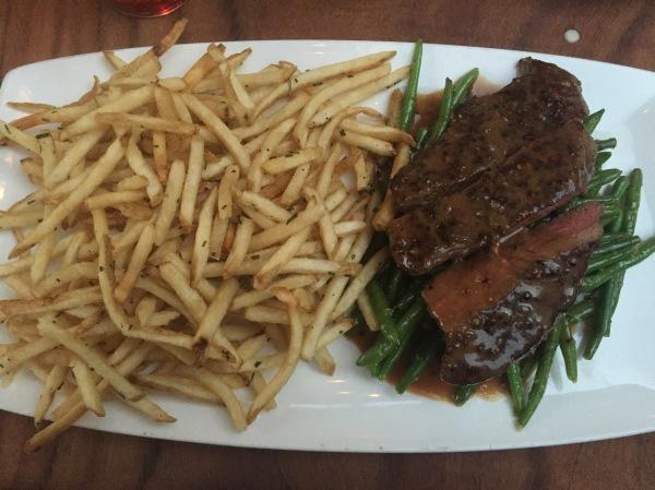 Steak frites at BO-Beau