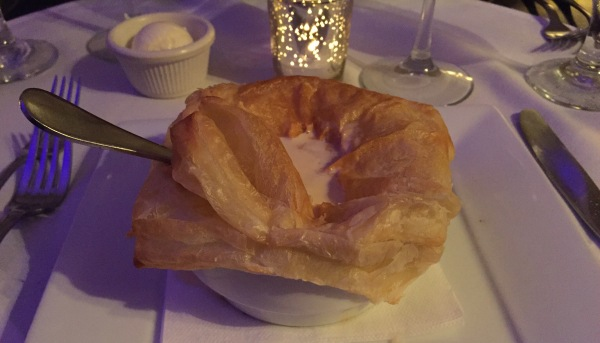 Mussel bisque en croute at Dobson's