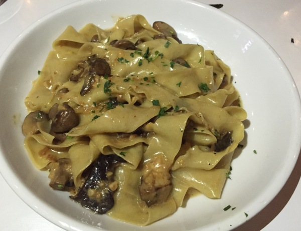 The handmade pappardelle pasta at Firehouse