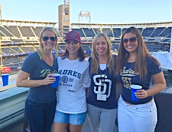 Pre-gaming before the Padres baseball game