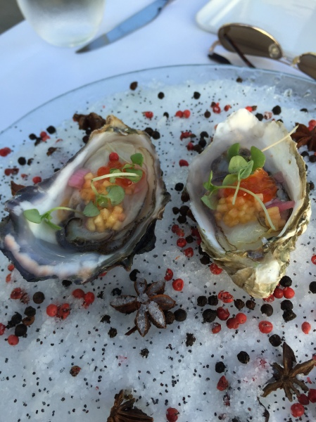 Oysters on the half shell at JRDN