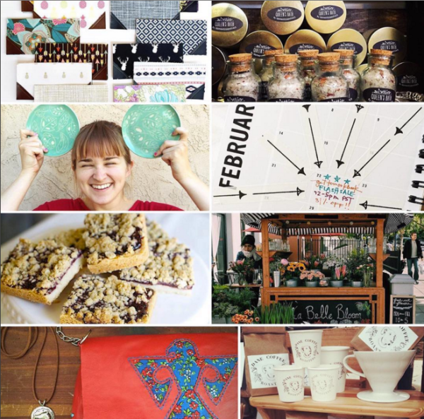 Some of the artisans who will be featured at the Talk Shop Pop Shop on March 24