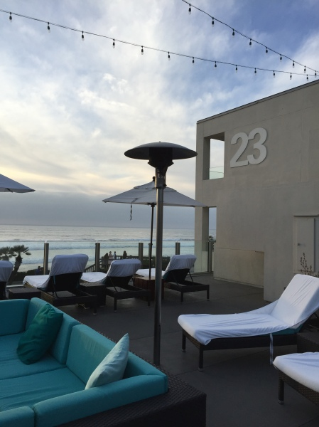 The rooftop lounge at Tower23 Hotel