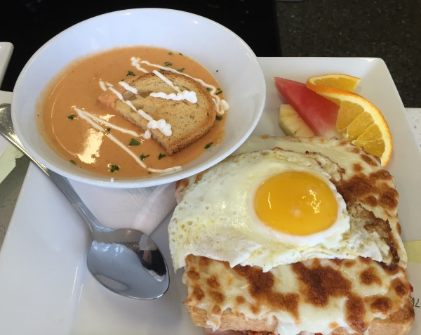 Croque Madame and lobster bisque at Bella Vista Social Club & Caffe