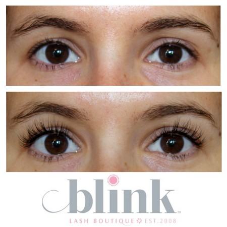 Eyelash extensions from Blink Lash Boutique