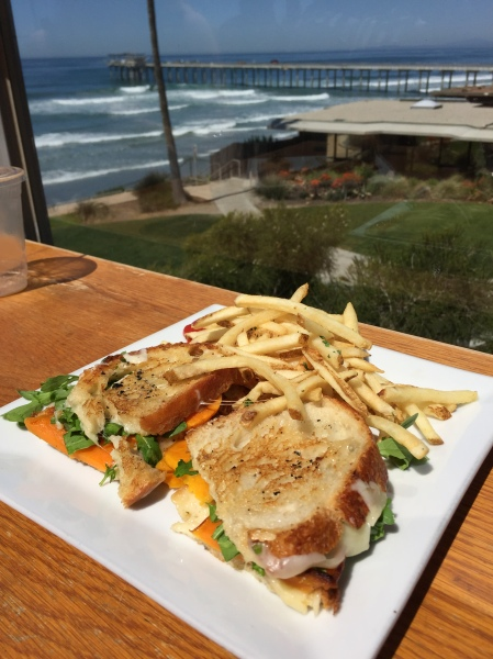 Butternut squash panini at Caroline's Seaside Cafe