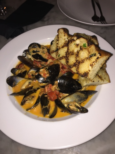 Steamed mussels at Bottega Americano