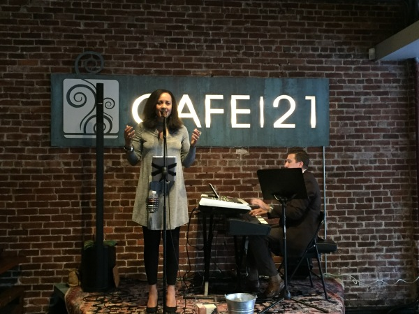 Rebecca Jade performs at Cafe 21