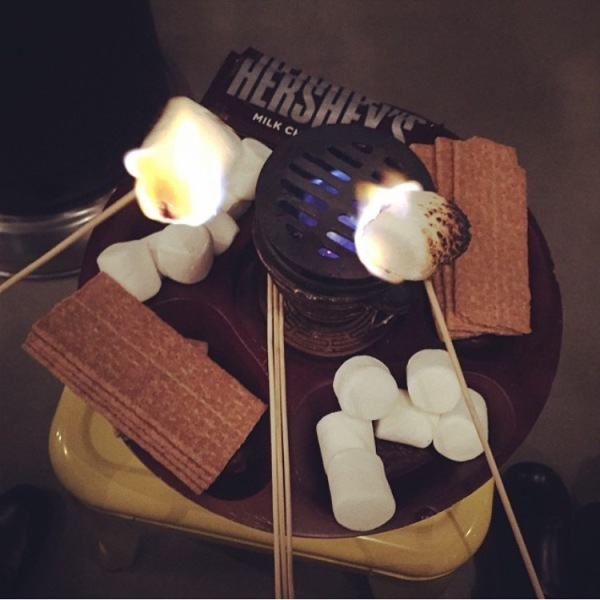 Roast your own s'mores at Halcyon
