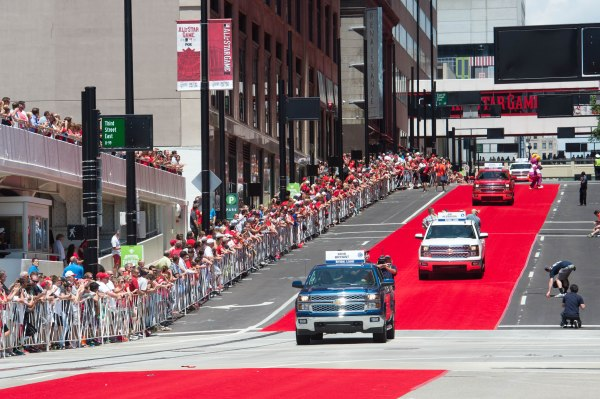 Last year's All-Star Game red carpet parade