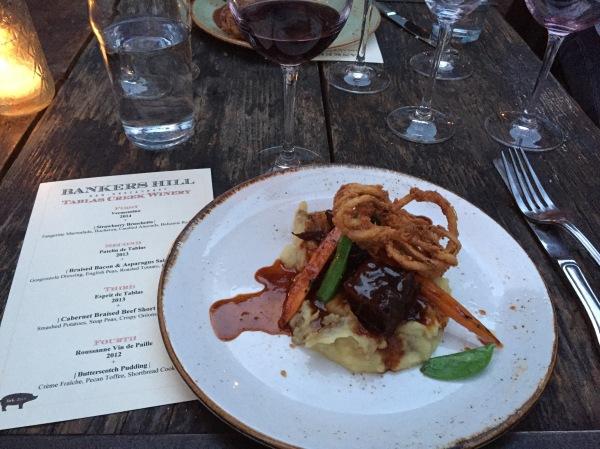 Wine-pairing dinner at Bankers Hill Bar & Restaurant
