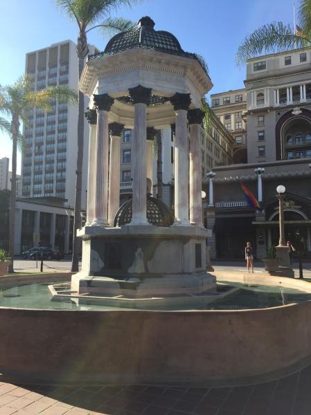 Historic fountain in Horton Plaza Park