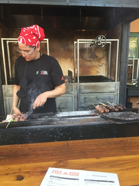 Yakitori bar at Fireside by The Patio