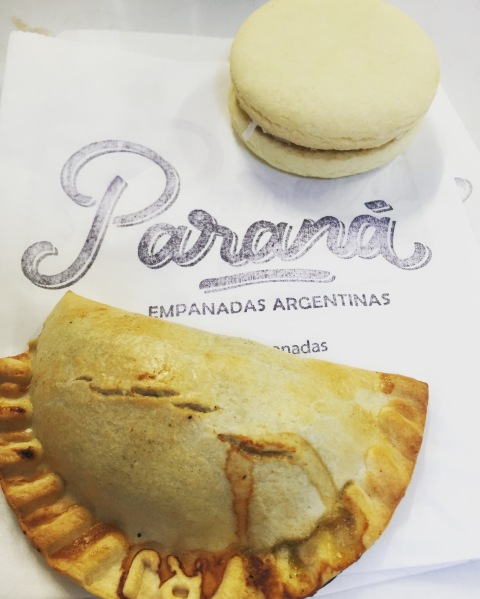 Empanada and alfajor from Parana Empanadas