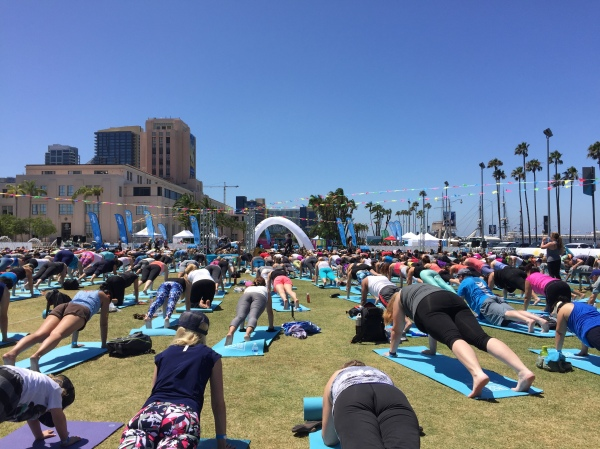 Soul Pose yoga at Waterfront Park