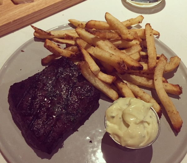Steak frites at Pacific Standard
