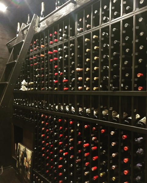 Wine vault at Carne Prima