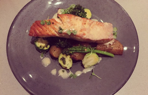 Sustainable salmon entree