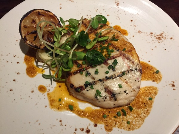 Swordfish special with parsnip puree