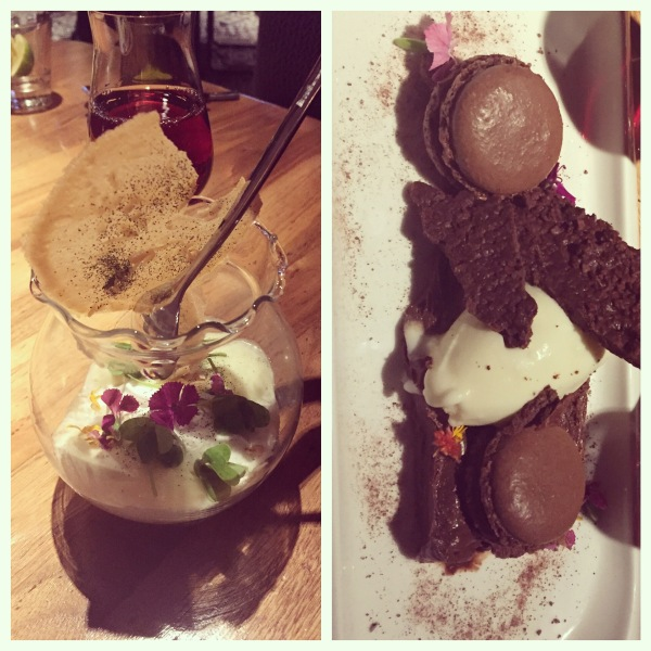 Tapioca terrarium and chocolate flight at Seasons Restaurant