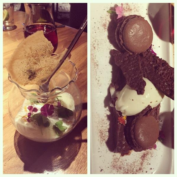 Tapioca terrarium and chocolate flight at Seasons Restaurant
